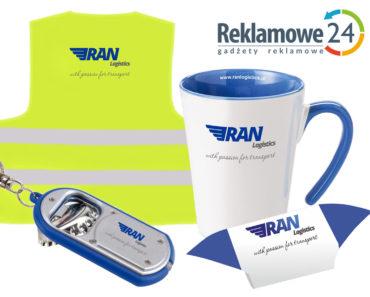 Gadżety reklamowe dla firmy Ran Logistics, realizacja: Reklamowe24, Łódź