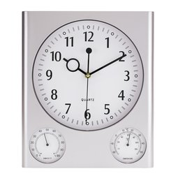 Zegar ścienny z hydrotermometrem