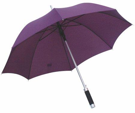 Rumba automatyczny parasol z aluminiową laską, szyny z włókna szklanego, fioletowy